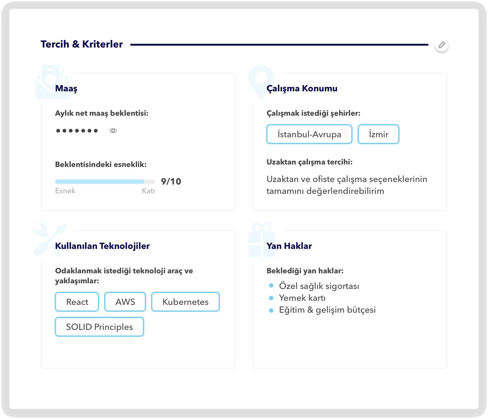 TalentGrid Criteria