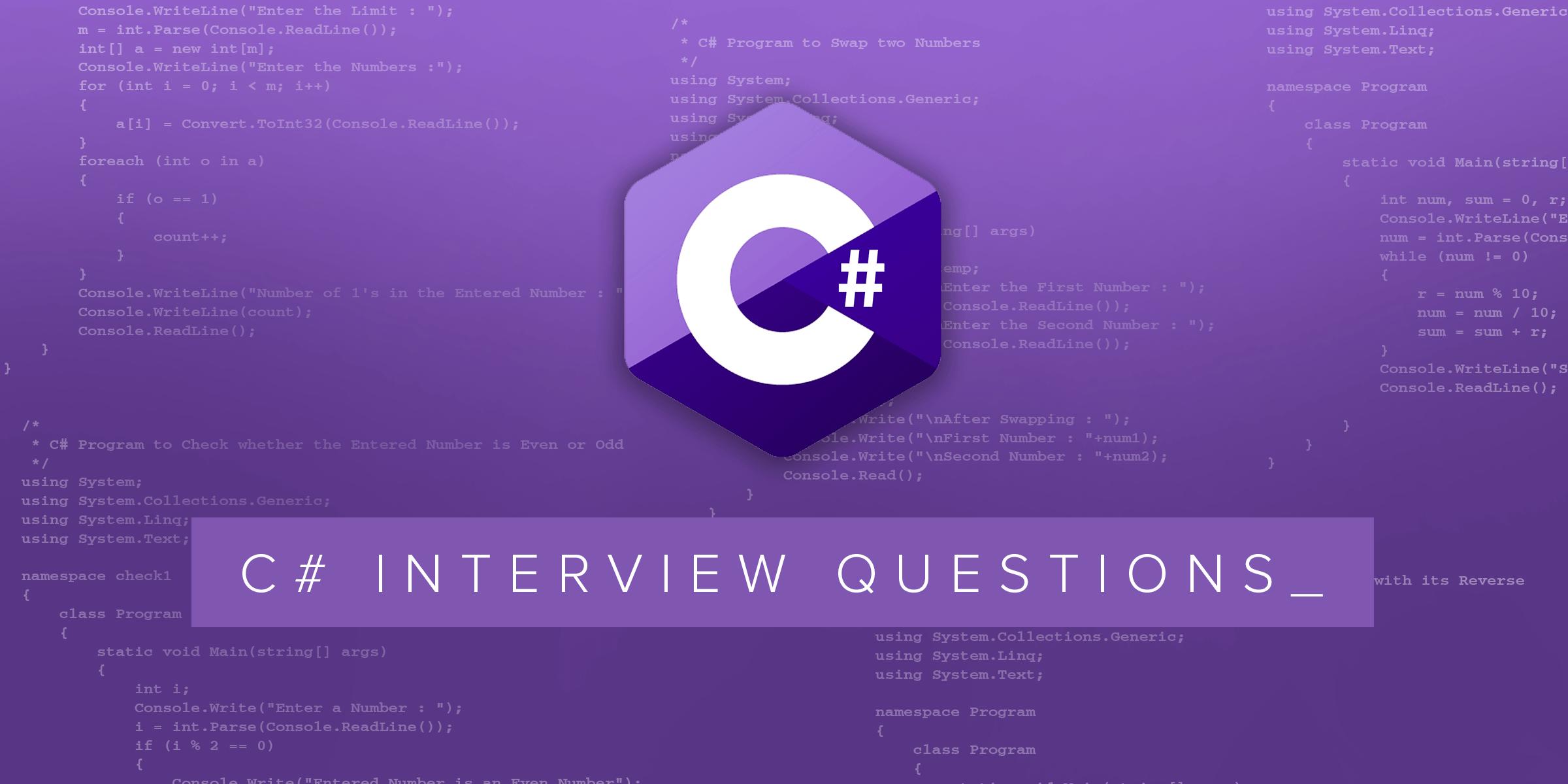 C# mülakat soruları